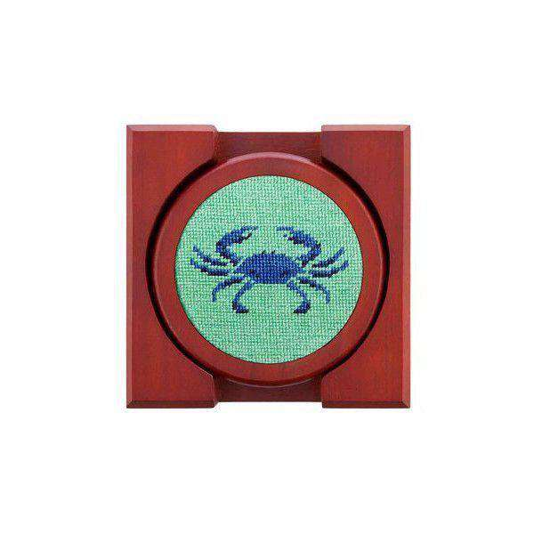 Blue Crabs Needlepoint Coasters by Smathers & Branson