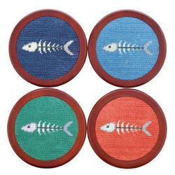 Bonefish Needlepoint Coasters by Smathers & Branson