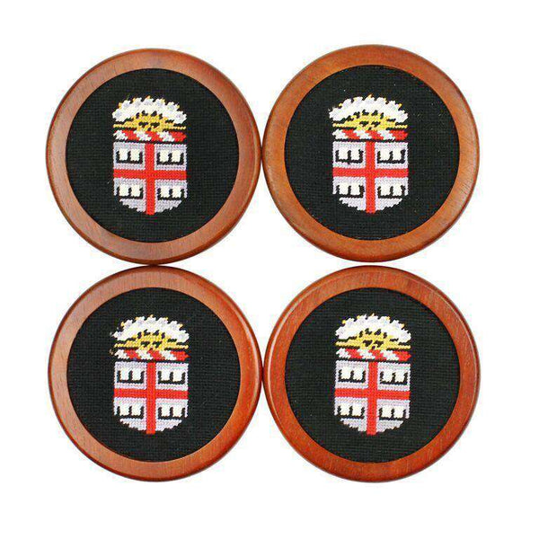 Brown University Needlepoint Coasters in Black by Smathers & Branson
