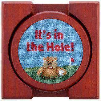 Caddyshack Needlepoint Coasters by Smathers & Branson