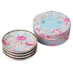Coasters - Ceramic Coaster Set In Jellies Be Jammin' By Lilly Pulitzer