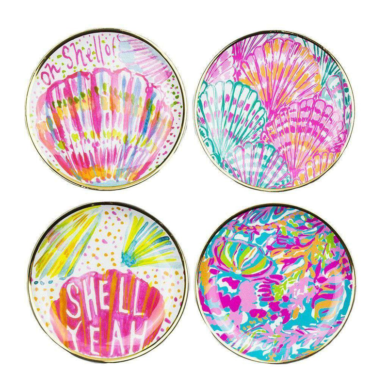 Ceramic Coaster Set in Scuba to Cuba! by Lilly Pulitzer - FINAL SALE