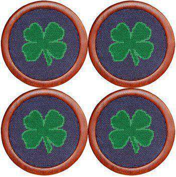 Coasters - Clover Coasters In Blue And Green By Smathers & Branson