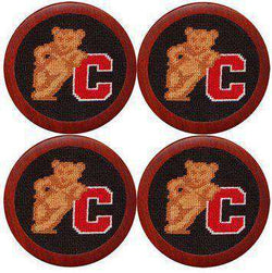 Coasters - Cornell University Needlepoint Coasters In Black By Smathers & Branson