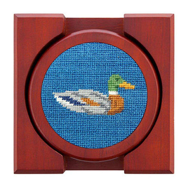 Coasters - Duck Duck Goose Needlepoint Coasters In Blueberry By Smathers & Branson