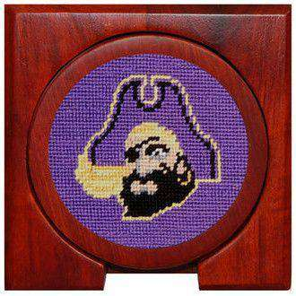 East Carolina Needlepoint Coasters in Purple by Smathers & Branson