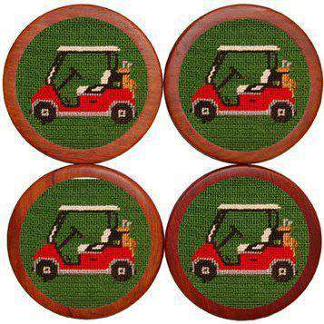 Golf Cart Coasters in Green by Smathers & Branson