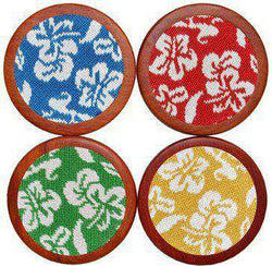 Coasters - Hibiscus Coasters In Multicolor By Smathers & Branson