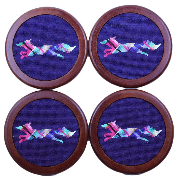 Longshanks Needlepoint Coasters in Navy by Smathers & Branson