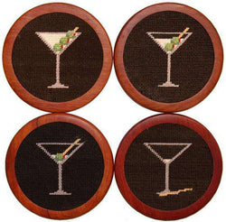 Coasters - Martini Coasters In Black By Smathers & Branson