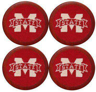 Coasters - Mississippi State University Coasters In Maroon By Smathers & Branson