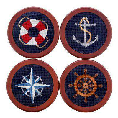 Coasters - Nautical Life Needlepoint Coasters By Smathers & Branson