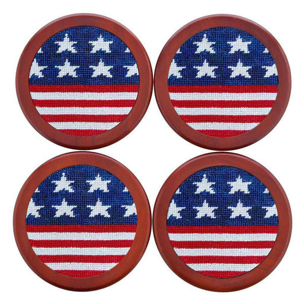 Coasters - Old Glory Coasters In Red, White, And Blue By Smathers & Branson