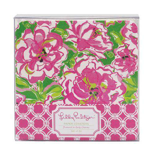 Paper Coasters in Lucky Charms by Lilly Pulitzer