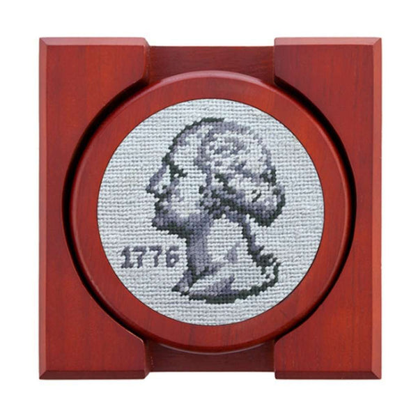 Pocket Change Needlepoint Coasters by Smathers & Branson