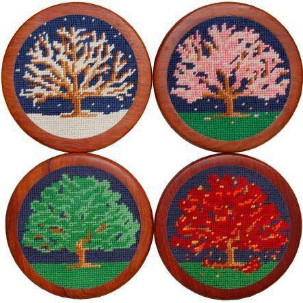 Coasters - Seasons Coasters In Navy By Smathers & Branson