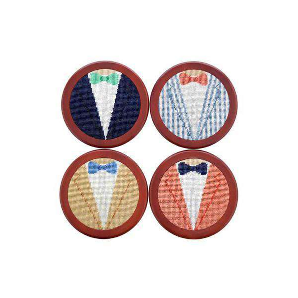 Coasters - Summer Blazers Needlepoint Coasters By Smathers & Branson