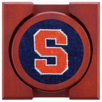 Syracuse Needlepoint Coasters in Navy by Smathers & Branson