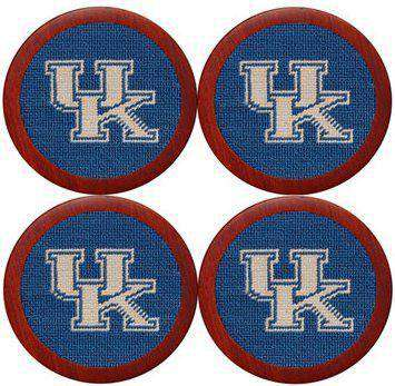 University of Kentucky Needlepoint Coasters in Blue by Smathers & Branson