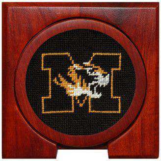 University of Missouri Needlepoint Coasters in Black by Smathers & Branson