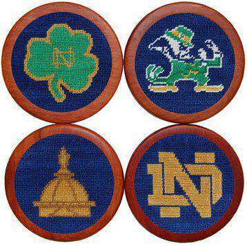 University of Notre Dame Coasters in Blue by Smathers & Branson