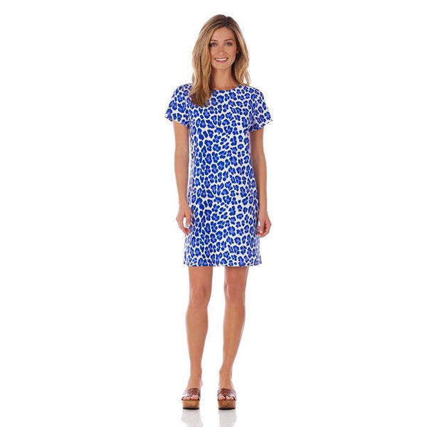Country Club Prep Leopard Cobalt / XS