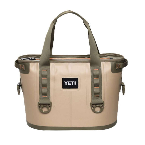 Hopper 20 in Field Tan and Blaze Orange by YETI