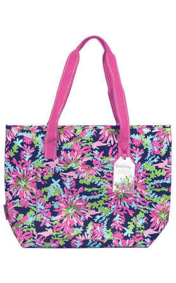 Coolers - Insulated Cooler In Navy Trippin' And Sippin'  By Lilly Pulitzer