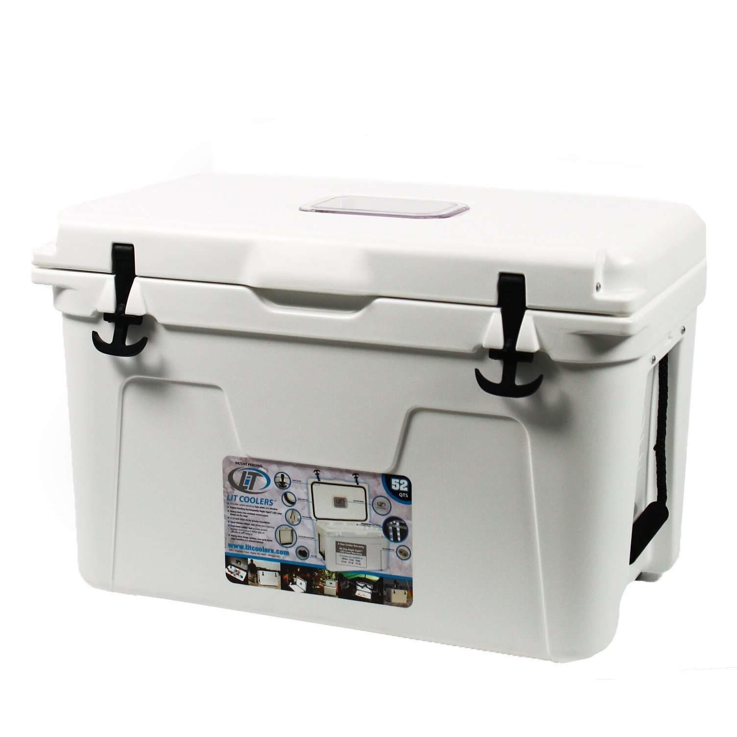 Coolers - Limited Edition Longshanks Cooler 52qt In White By Lit Coolers