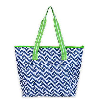 Coolers - Nautical Tide Cooler Tote By All For Color - FINAL SALE