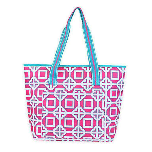 Pink Charmer Cooler Tote by All For Color - FINAL SALE