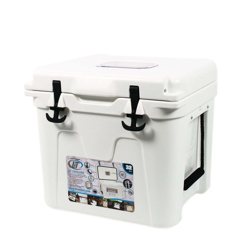 Coolers - State Traditions America Cooler 32qt In White By Lit Coolers