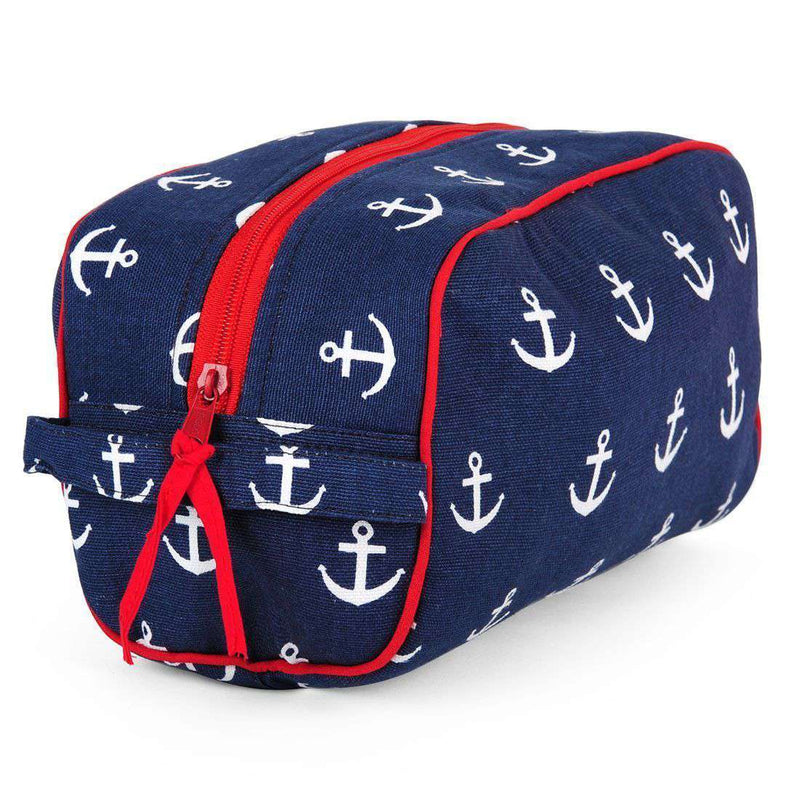 Cosmetic Bags - Anchor Dopp Kit In Navy By Malabar Bay - FINAL SALE