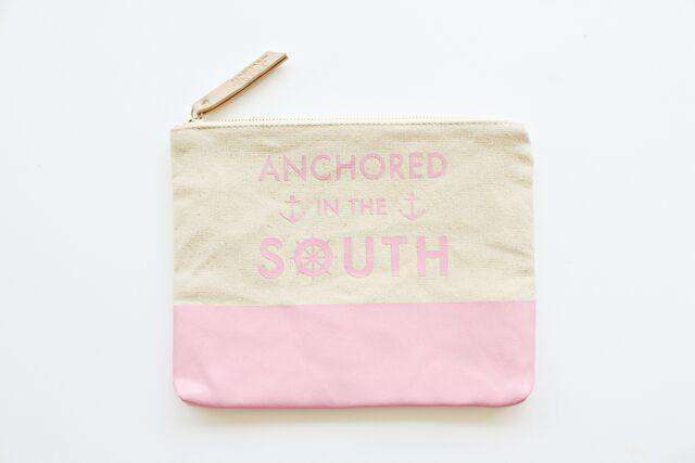 Cosmetic Bags - Anchored In The South Travel Canvas Pouch By Jadelynn Brooke