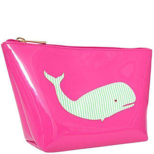 Avery Case in Pink with Green Stripe Whale by Lolo