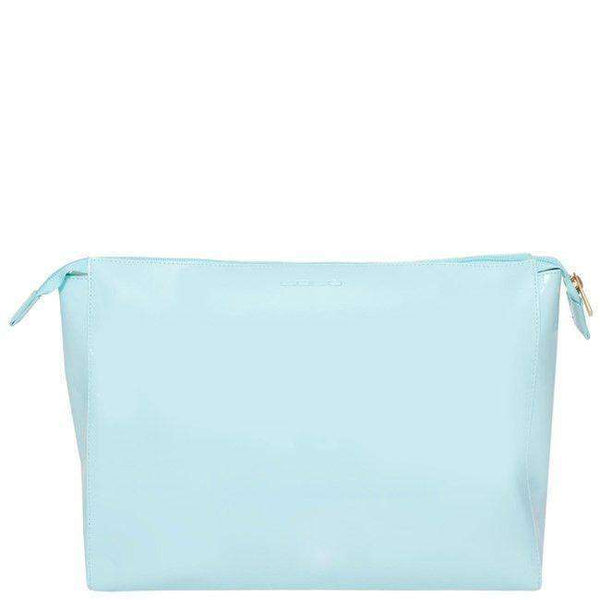 Betty Cosmetic Case in Light Blue with White Beach by Lolo