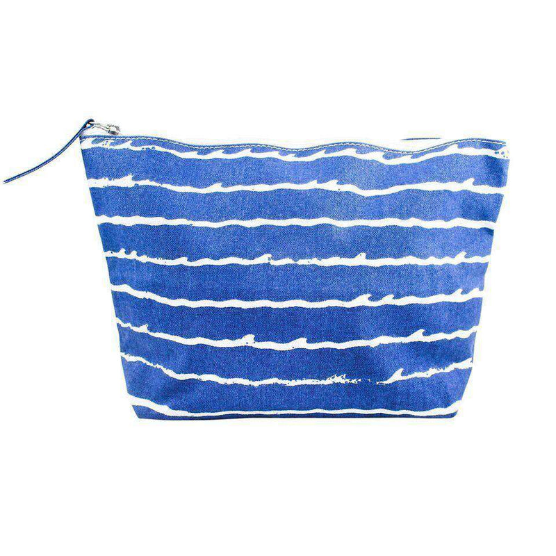 Cosmetic Bags - Blue Wave Zip Bag By Hiho - FINAL SALE