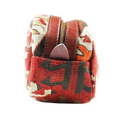 Cosmetic Bags - Kilim Dopp Kit Bag In Geo Red By Res Ipsa