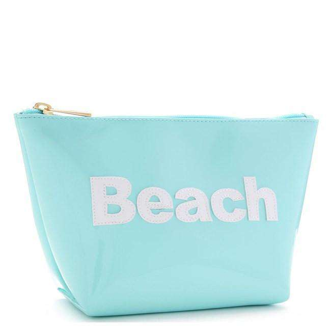 Cosmetic Bags - Medium Avery Case In Light Blue With White Beach By Lolo