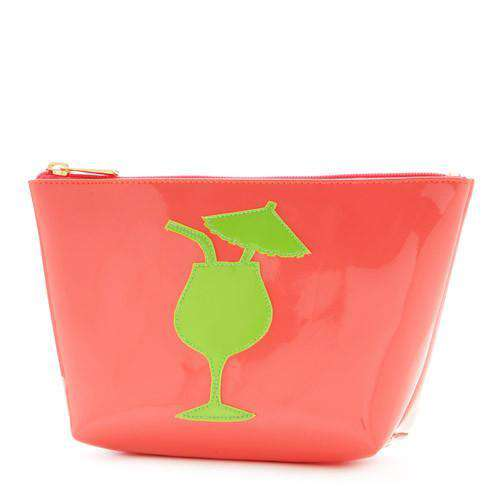 Cosmetic Bags - Medium Avery Case In Watermelon With Green Cocktail By Lolo