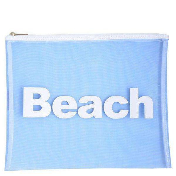 Mesh Stanley Case in Blue with White Beach by Lolo - FINAL SALE