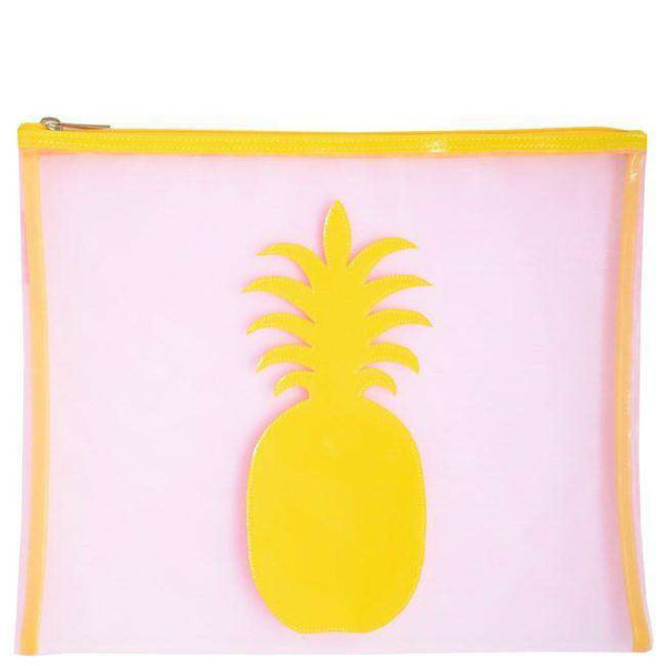 Mesh Stanley Case in Pink with Yellow Pineapple by Lolo