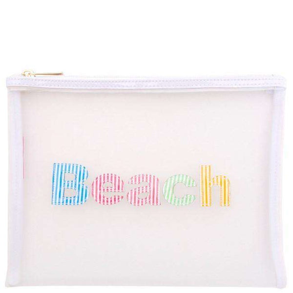 Mesh Stanley Case in White with Multi-Color Stripe Beach by Lolo
