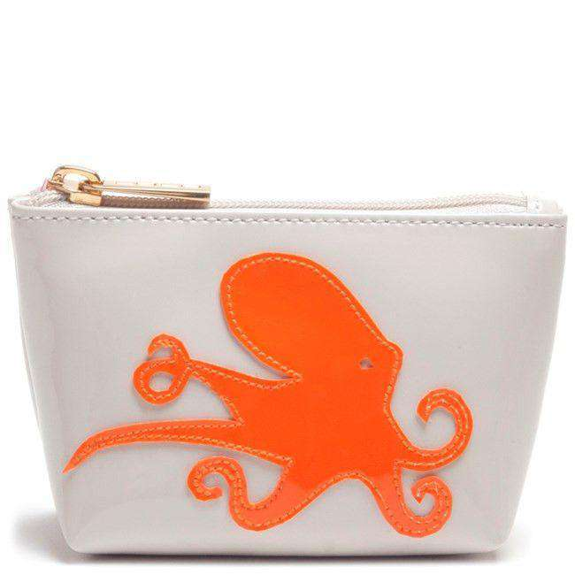 Cosmetic Bags - Mini Avery Case In Blush With Orange Octopus By Lolo