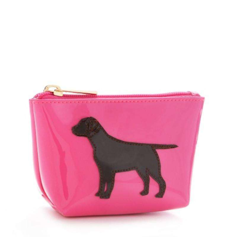 Cosmetic Bags - Mini Avery Case In Pink With Chocolate Lab By Lolo