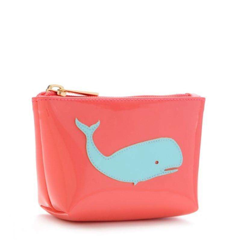 Cosmetic Bags - Mini Avery Case In Watermelon With Light Blue Whale By Lolo