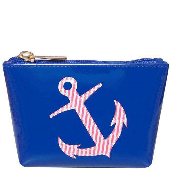 Mini Avery Change Purse in Navy with Red Stripe Anchor by Lolo - FINAL SALE