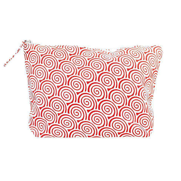 Red Swirl Zip Bag by Hiho - FINAL SALE