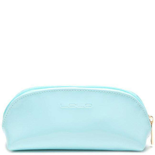 Sunglass Case in Light Blue with Yellow Sun by Lolo