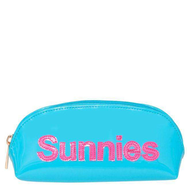 Sunglass Case in Turquoise with Pink Sunnies - FINAL SALE